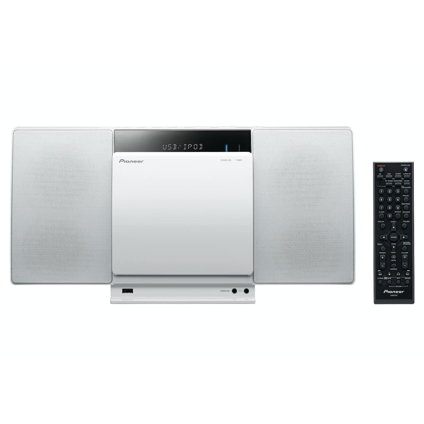 Pioneer X-SMC01BT minianlæg M/Bluetooth, Hvid
