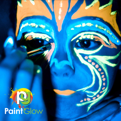 UV body & facepaint for 25 persons Til ansiktet