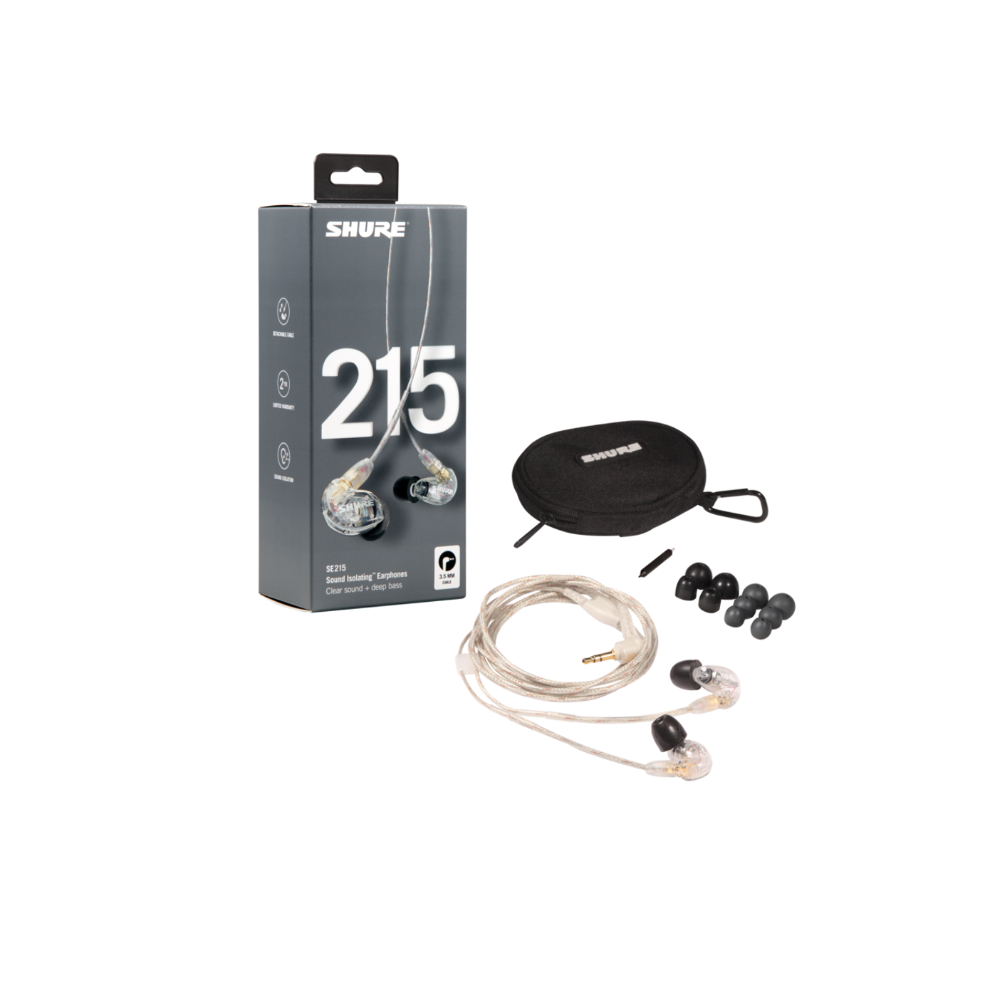 Shure SE215-CL In-ear hovedtelefoner - Klar