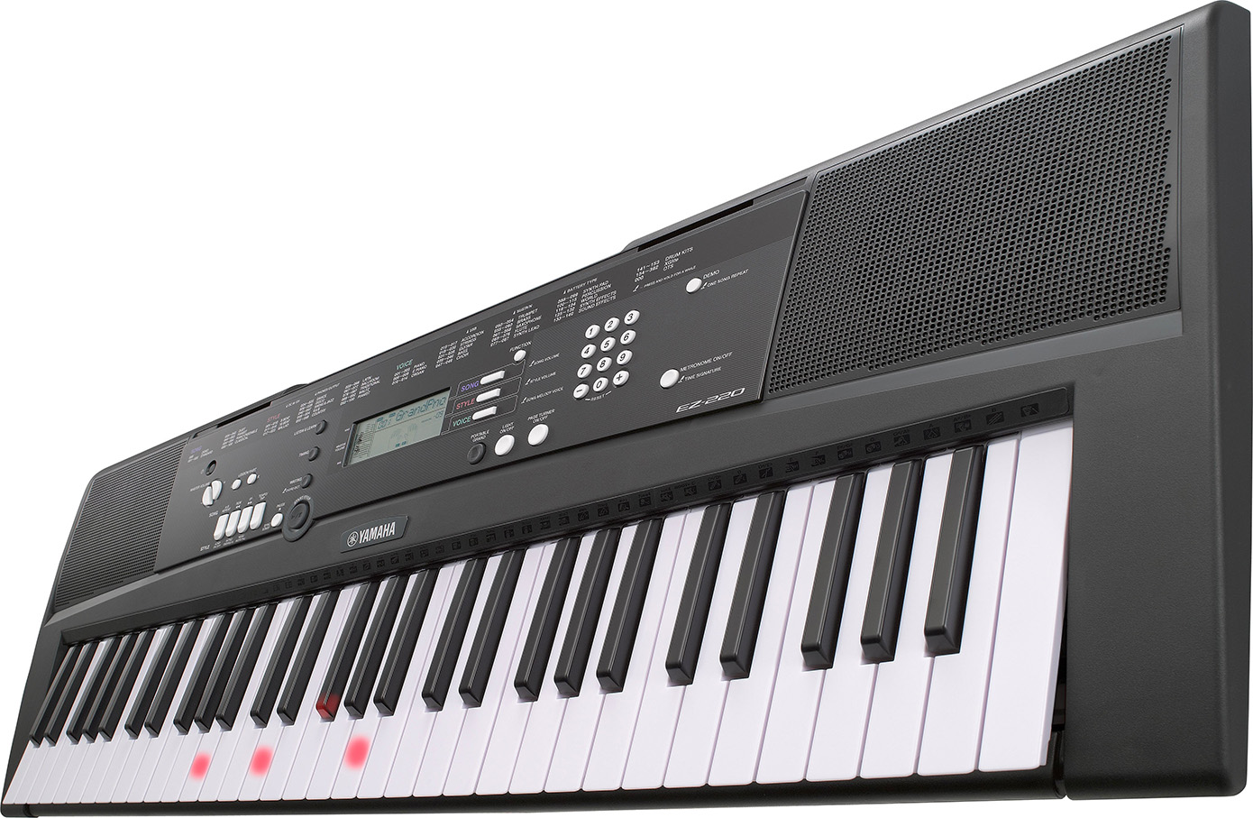 Yamaha digitalt keyboard EZ 220 DJ utstyr og